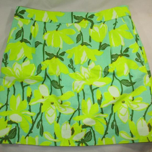 Madewell Dresses & Skirts - Madewell Neon Yellow Floral Bark Cloth Skirt 6